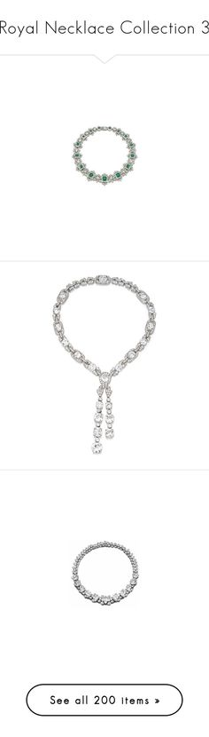 """Royal Necklace Collection 3"" by nmccullough ❤ liked on Polyvore featuring jewelry, necklaces, white pearl necklace, antique vintage jewellery, vintage pearl jewelry, antique jewellery, pearl jewelry, 18k necklace, diamond jewelry and sapphire necklace"