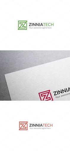 Zinnia Tech Z Letter Logo Template
