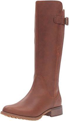 Timberland Womens Banfield Tall Medium Shaft WP Riding Boot Wheat Forty 7 M  US >>