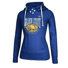 Golden State Warriors Women's Royal Blue Pullover Hoodie