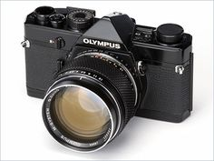 Olympus M-1 Black, 1972. The M-1 itself get protest from Leica because the name, and this black one not even be sold on the market!