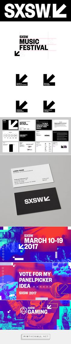 Brand New: New Logo and Identity for SXSW by Foxtrot - created via https://pinthemall.net
