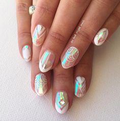 Iridescent nail art