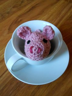 Teacup pig #crochet pattern free on Ravelry from Małgorzata Machowska