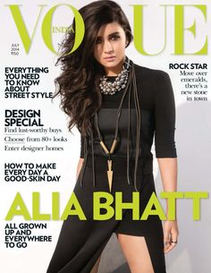July is a big month for Bollywood actress Alia Bhatt. Not onl;y does she grace the front cover of Vogue India, she is also singing in her upcoming film Humpty Sharma Ki Dulhania which is out worldwide July Vogue Magazine Covers, Fashion Magazine Cover, Cool Magazine, Vogue Covers, Bollywood Makeup, Bollywood Fashion, Bollywood Actress, Alia Bhatt Photoshoot, Dior