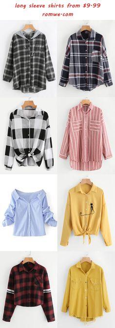 long sleeve shirts - romwe.com
