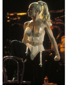 Madonna in Jean Paul Gaultier on her Blonde Ambition tour in 1990