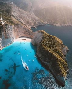 Zakynthos, Greece - 10 Gorgeous Greek Islands You Haven't Heard Of Yet. Places To Travel, Places To See, Travel Destinations, Greece Destinations, Dream Vacations, Vacation Spots, Wonderful Places, Beautiful Places, Beautiful Beach