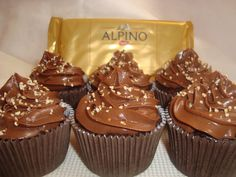 A Oficina de cupcakes: Cupcakes de creme Alpino
