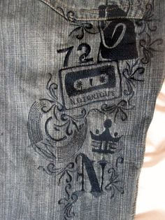 Mens NOTORIOUS B.I.G. Hip Hop Embroidered JEANS Denim PANTS BLUE 34 Hipster
