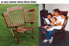 Funny pictures about Story-Time Chair. Oh, and cool pics about Story-Time Chair. Also, Story-Time Chair photos. Cool Furniture, Outdoor Furniture Sets, Creation Deco, Future Mom, Future House, Cool Inventions, Cool Chairs, My New Room, Story Time