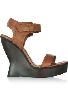 McQ Alexander McQueen Leather wedge sandals