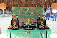 Jungle Themed 1st Birthday | CatchMyParty.com