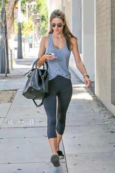 Alessandra Ambrosio walks in Los Angeles on Sept. 15, 2014. Getty Images -Cosmopolitan.com