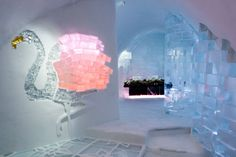 At the ICEHOTEL in Sweden, even the glasses in the Absolut vodka bar are made from ice. Northern Lights; www.bradtguides.com