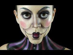 Ventriloquist Dummy Makeup Tutorial | Claire Dim - YouTube  http://puppet-master.com - THE VENTRILOQUIST ASSISTANT