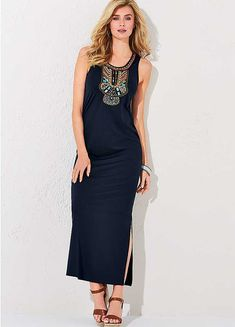 Embellished Panel Sleek Maxi Dress by Kaleidoscope Holiday Fashion, Holiday Style, Dresses For Work, Formal Dresses, Long A Line, Shopping, Collection, Design, Dresses For Formal