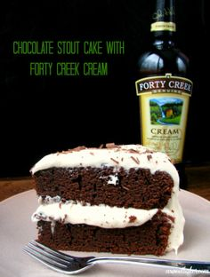 Chocolate Stout Cake with Forty Creek Cream Icing Chocolate Stout Cake, Death By Chocolate, Frosting, Icing, Cake Recipes, Dessert Recipes, Sweet Cakes, Sweet Bread, Let Them Eat Cake