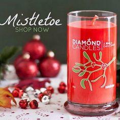 20% off coupon :) > http://my.cndl.es/x/oyL9nX Mistletoe Christmas Diamond Candles - Great Christmas gift ideas!