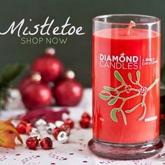 Mistletoe Christmas Diamond Candles - Great Christmas gift ideas!