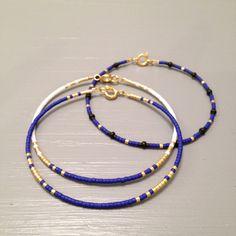 Minimalist Bracelet, Cobalt Blue Bracelet, Marine Bracelet  This listing is for one beaded gold fill Bracelet. Bracelet is made of a Miyuki Delica