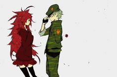 Flippy and Flaky in human, anime forms. Friend Cartoon, Friend Anime, Petunias, Happy Tree Friends Flippy, Htf Anime, Cat Oc, Warrior Cat Drawings, Cartoon Ships, Friends Image