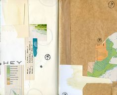 really love this little #collage in an #art_journal by katie licht