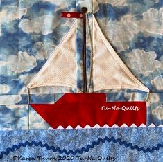 Tu-Na Quilts: QAL by the Sea Block 9 | Tu-Na Quilts, Travels, and Eats Pattern Blocks, Clothes Hanger, Quilts, Coat Hanger, Hangers, Hangers For Clothes, Quilt Sets, Quilt, Log Cabin Quilts