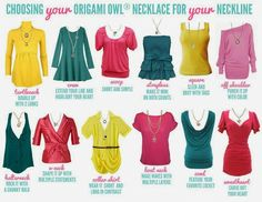 choose the right origami owl necklace for your neckline