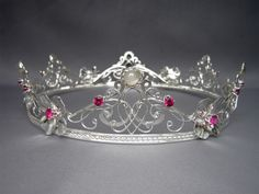 Flower Queen Crown Flower Queen Bridal Crown - Stunning floral bridal headpiece (tiara) with historical Elizabethan and Victorian inspiration [] Royal Jewels, Crown Jewels, Hair Jewelry, Bridal Jewelry, Flower Jewelry, Circlet, Bridal Crown, Fantasy Jewelry, Tiaras And Crowns