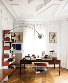 If you are a guy and used to work at home, here are some cool ideas how to design a home office for you. You may choose any style you prefer and realize it in your home office, for example… Continue Reading → Paris Home, Paris Paris, Home Office Design, Home Office Decor, House Design, Office Ideas, Funky Home Decor, Office Designs, Best Interior