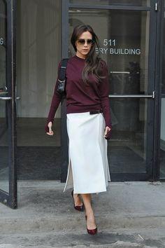 Mode Victoria Beckham, Victoria Beckham Outfits, Fashion Mode, Look Fashion, Fashion Design, Fashion Photo, Street Fashion, Winter Fashion, Fashion Trends
