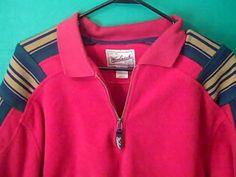 Woolrich Rugged Outdoor Wear Red Men's Size  L Pullover Fleece Shirt Jacket #Woolrich #SweatshirtCrew