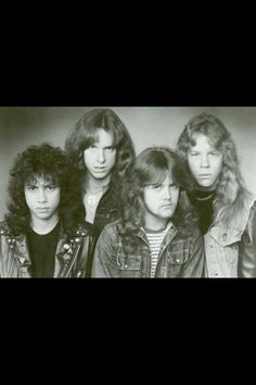 Early photo of Metallica We miss you Cliff B. Horns Held High!