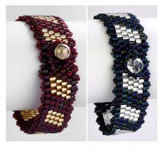 Color Block Bracelet | AllFreeJewelryMaking.com