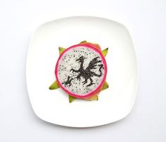 artworks made from food by Hong Yi