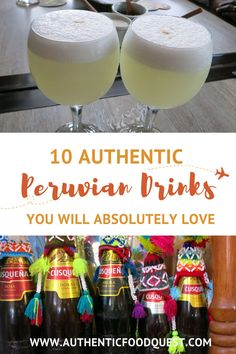 Check out our Pervuvian Drinks Guide. Don't miss out on these 10 drinks to have in Peru. Beyond the Pisco Sour, there is a range of alcoholic and non alcoholic beverages to savor. From beverages consumed during the ancient Inca Empire to craft beers, sip on the symbols of Peruvian culture. Peruvian drinks reflect the local customs, history, and unique ingredients. | Authentic Food Quest. Peruvian Drinks, Peruvian Cuisine, Peruvian Recipes, Authentic Food, Inca Empire, Pisco Sour, Peru Travel, Cool Cafe, Home Food