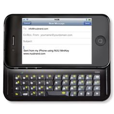 The Illuminated iPhone Slide Out Keyboard - Hammacher Schlemmer