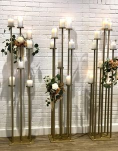 Splendor Candelabra / Ceremony Aisle Stand Light the way for your wedding day guests during your wedding ceremony with our Splendor Candelabra. Wedding Aisle Decorations, Backdrop Decorations, Wedding Ideas, Candelabra Flowers, Candelabra Wedding Centerpieces, Deco Buffet, Wedding Backdrop Design, Flower Stands, Candle Stand
