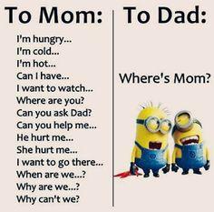 Details about Minion Meme To Mom To Dad Flexible Fridge Magnet - Funny Minions Quotes Funny Minion Pictures, Funny Minion Memes, Crazy Funny Memes, Minions Quotes, Really Funny Memes, Funny Facts, Haha Funny, Funny Jokes, Funny Life