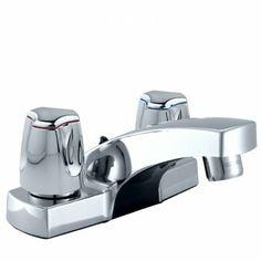 """Mezcladora de lavatorio 4"""" al mueble con cubierta abs, línea mares colección delphis cromo"""