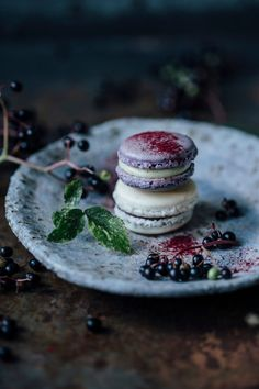 our food stories: Macarons variations: blueberry-vanllia & vanilla-elderberry