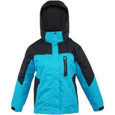 Iceburg Girls' 3 in 1 System Jacket with Removable Liner, Size: 8, Black