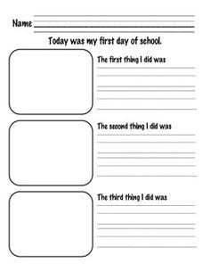 First Day of School Writing Activities- Nice bundle! First Day Of School Activities, 1st Day Of School, Beginning Of The School Year, Writing Activities, School Fun, Introduction Activities, Sequencing Activities, Recount Writing, Back To School Party