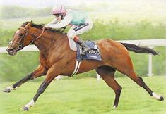 FRANKEL Print, Sussex Stakes Limited Edition Horse Racing Art by Denise Finney