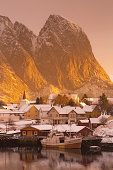 Golden mountain, Reine, Lofoten Islands, Norway