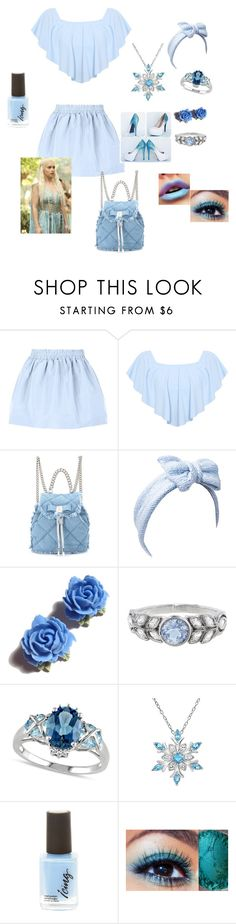 """""""Icy"""" by the-quote-queen on Polyvore featuring RED Valentino, WearAll, Salvatore Ferragamo, Beauxoxo, Tarina Tarantino, Cathy Waterman, Allurez and Amanda Rose Collection"""