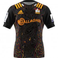 2020 Chiefs Home Black Rugby Shirt Sonny Bill Williams, Adidas Logo, Adidas Shirt, Chiefs Super Rugby, Cycling Jerseys, Rugby Jerseys, Chiefs Logo, Team Shirts, Sports