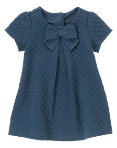 Quilted Bow Dress at Gymboree, $25