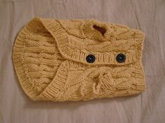 Pattern was designed in order to knit custom dog sweaters for the Small Paws Rescue fundraising auctions. Knitted Dog Sweater Pattern, Dog Coat Pattern, Knit Dog Sweater, Cat Sweaters, Cardigan Pattern, Cable Cardigan, Sweater Patterns, Knitting Patterns For Dogs, Free Knitting